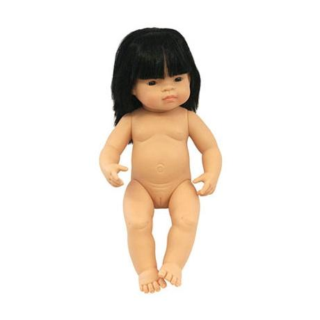 Miniland Asian Baby Girl 38cm Doll