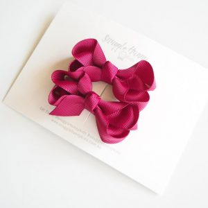 Snuggle Hunny Kids Burgundy Small Clip Bow