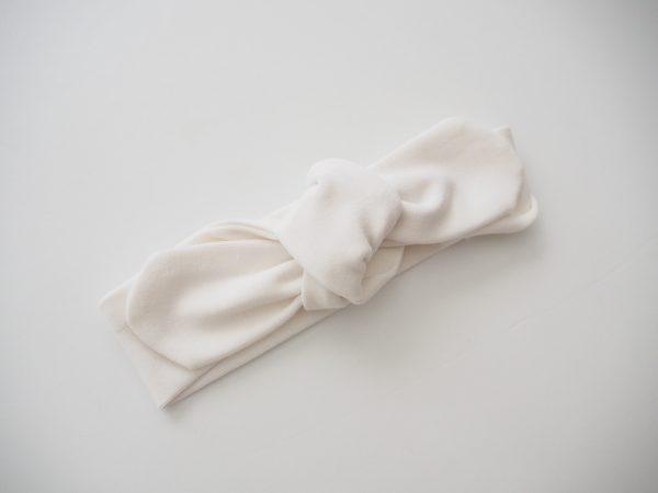 Snuggle Hunny Kids White Topknot Headband