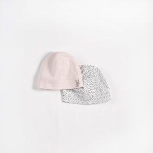 Petit Lem Pink Bunny Beanie 2 Pack