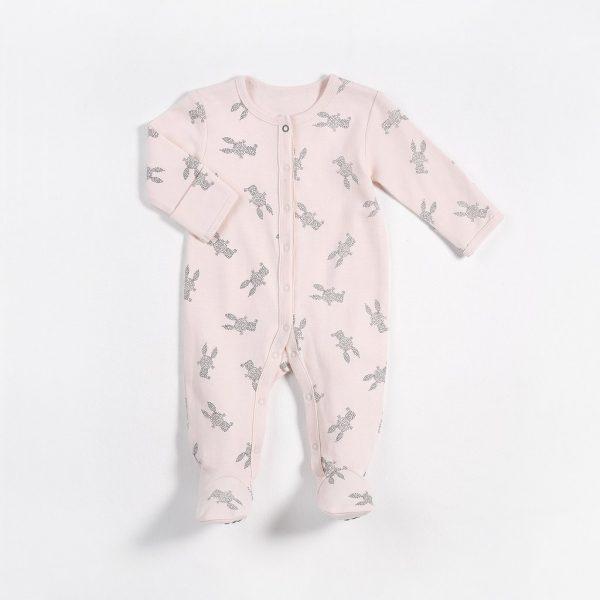 62ba62be8 Petit Lem Pink Bunny Print Romper