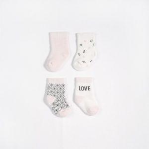 Petit Lem Socks 4 Pack Pink