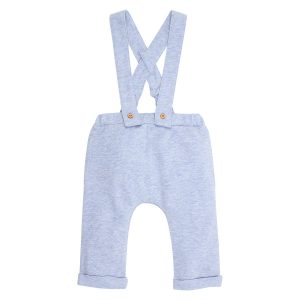 Fox & Finch Woof Blue Stone Overalls