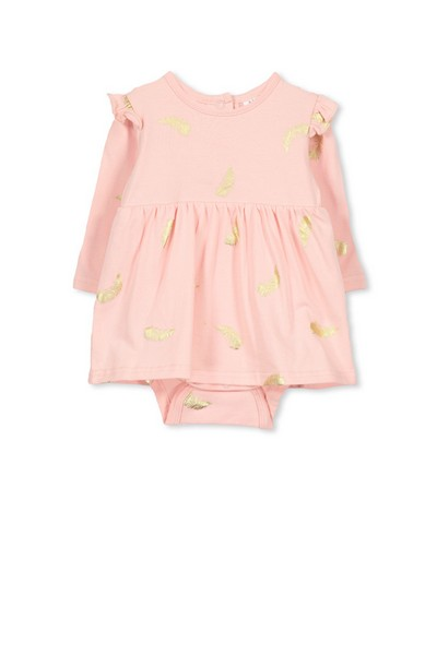 Milky Feather Baby Dress