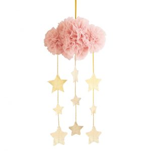Alimrose Tulle Cloud Mobile Blush