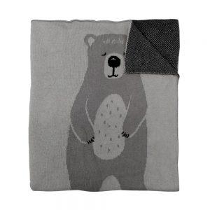Mister Fly Bear Knitted Blanket