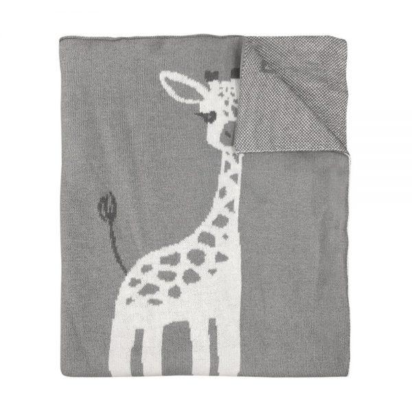Mister Fly Giraffe Knitted Blanket