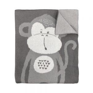 Mister Fly Monkey Knitted Blanket