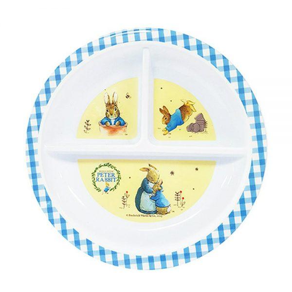 Peter Rabbit Melamine Section Plate