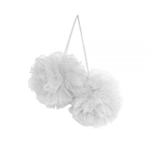 Spinkie Baby Large Sparkle Pom White