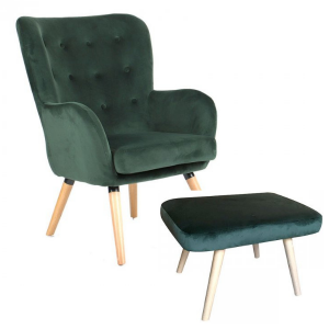 Audrey Accent Chair & Foot Stool