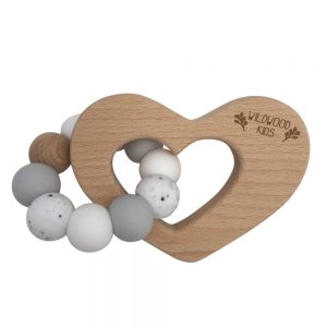 Wildwood Kids Heart Teething Ring