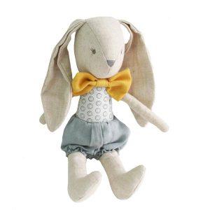 Alimrose Baby Boy Bunny Grey Butterscotch