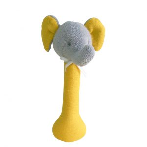 Alimrose Elephant Stick Rattle Butterscotch