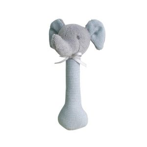Alimrose Elephant Stick Rattle Grey