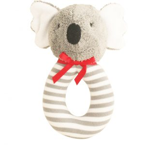 Alimrose Grab Rattle Koala Grey Stripe