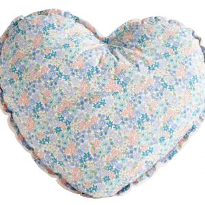 Alimrose Heart Cushion Pink & Liberty Blue