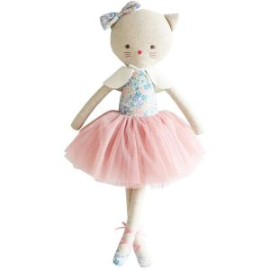 Alimrose Kitty Cat Adeleine Liberty Blue