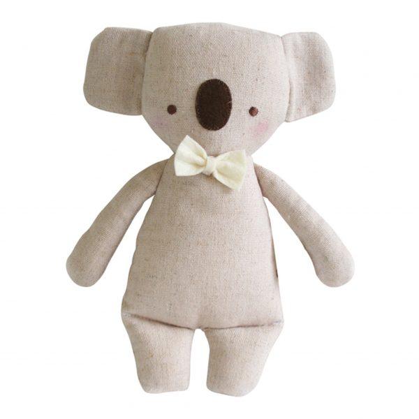 Alimrose Mini Rattle Koala Linen