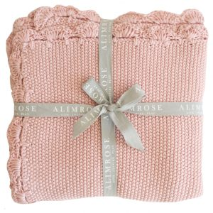 Alimrose Organic Cotton Mini Moss Stitch Baby Blanket