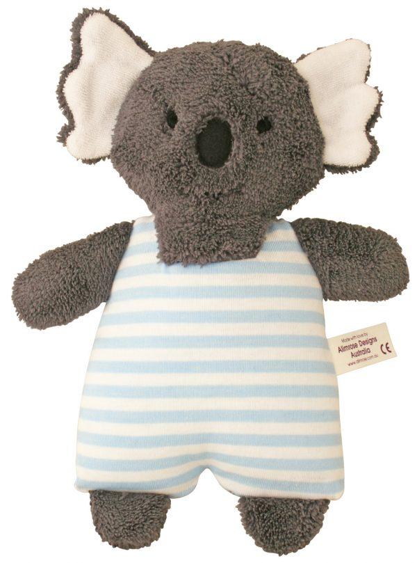 Alimrose Toy Rattle Koala Blue Stripe