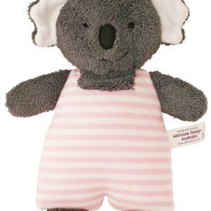 Alimrose Toy Rattle Koala Pink Stripe