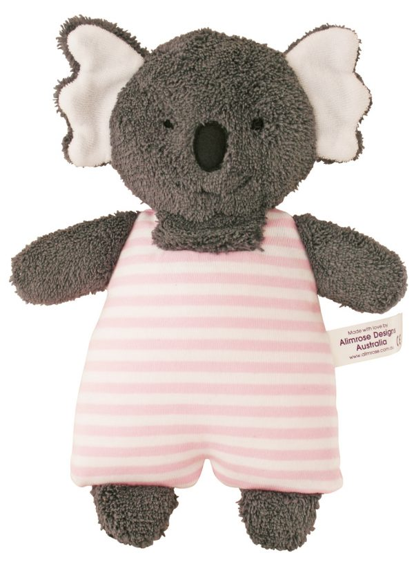 Alimrose Toy Rattle Koala Pink Stripe