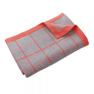 DLux Jamie Cotton Knitted Cot Blanket Coral