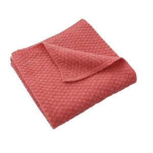 DLux Pepe Soft Lambswool Knit Baby Wrap Coral