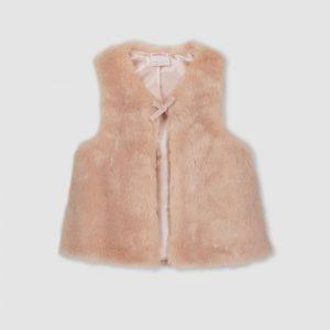 Milky Faux Fur Vest