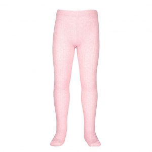 Milky Jacquard Tights Pink
