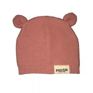 Ponchik Bear Beanie Rosewood