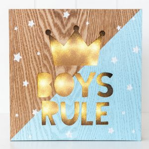 Rayell LED Light Box Boys Rule