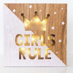 Rayell LED Light Box Girls Rule
