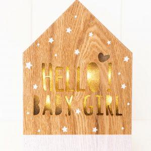 Rayell LED Light Box Hello Baby Girl