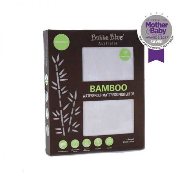 Bubba Blue Bamboo Bassinet Waterproof Mattress Protector