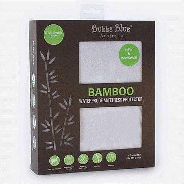 Bubba Blue Bamboo Standard Cot Waterproof Mattress Protector