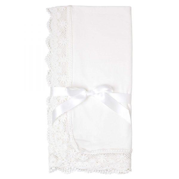 Designer Kids Zoe Lace Baby Blanket Ivory