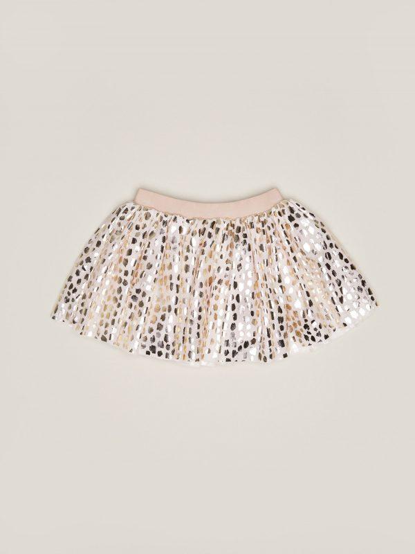 Hux Gold Leopard Tulle Skirt