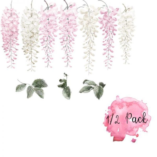 Little Rae Prints Decal Wisteria Pink Half Set