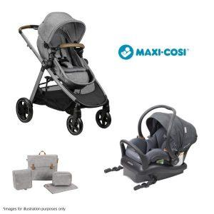 Maxi Cosi Zelia + Mico Plus Isofix Carrier Bonus MC Nappy Bag & $50 Babyroad Gift Voucher