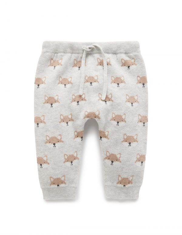 Purebaby Fox Knit Legging | Baby Clothes | Babyroad