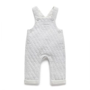 Purebaby Grey Melange Quilted Overall
