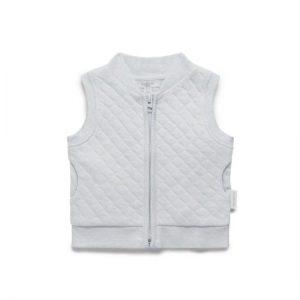 Purebaby Grey Melange Quilted Vest
