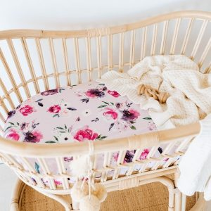 Snuggle Hunny Kids Bassinet Sheet/Change Pad Cover Floral Kiss