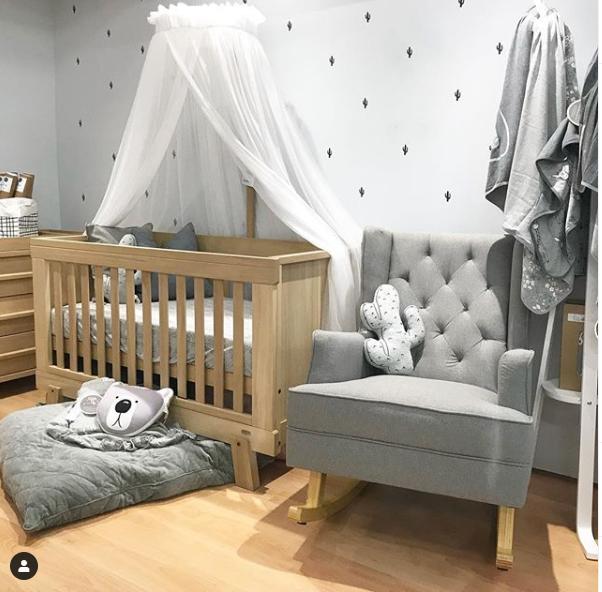 gender neutral nursery - grey and beige