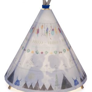Blue Grey Teepee Lamp