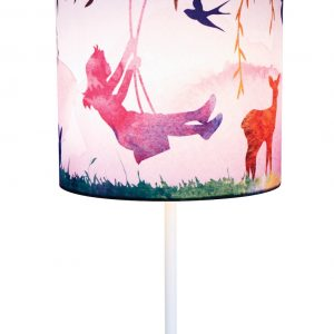 Little Girl on Swing Lamp