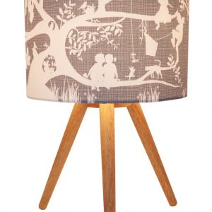 Treehouse Grey Fabric Lamp
