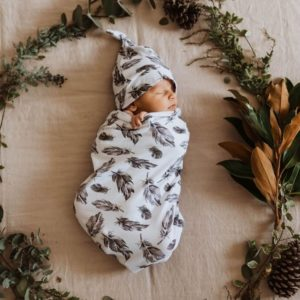 Snuggle Hunny Kids Quill Swaddle Sack & Beanie Set